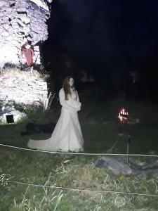 bride at castle